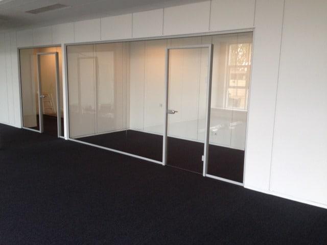 Glasvæg system til kunde i Ballerup