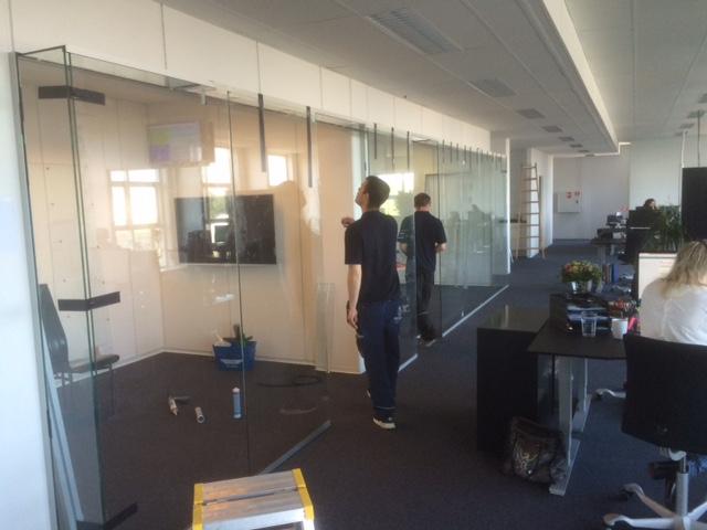glasvæg system inkl alu-glasdør