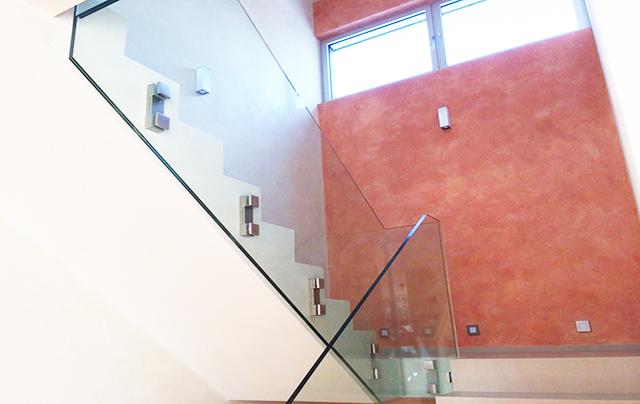Glasværn til trappe fra-LE Glas
